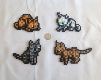 Cats from The Legend of Zelda: The Minish Cap - Set of 4 Perler Bead Sprites