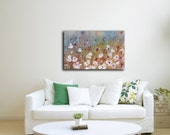 SPECIAL PRICE - landscape of end summer - modernhouseart - palette knife - original oil painting on recycled wood