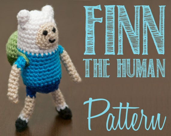 Amigurumi Love Birds Pattern : Finn the Human Adventure Time Amigurumi Crochet Pattern