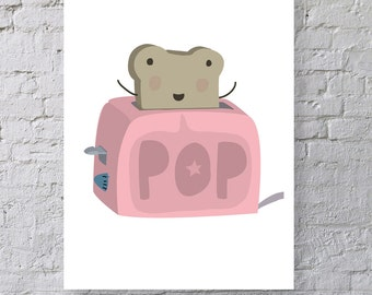 Pop Toast Print