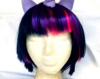 Dusk Shine Wig MLP Unicorn Purple and Pink Costume My Little Pony, Twilight Sparkle, Cosplay my little pony cosplay