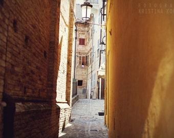 GLIMPSES photography print, Italy street photo decoration, 8x12