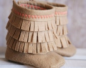 Newborn Girl's Moccasin Boots