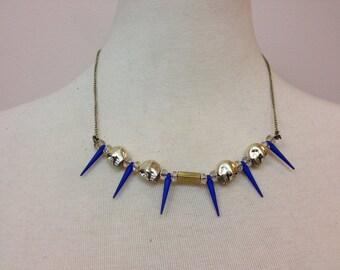 Cobalt Spike Necklace