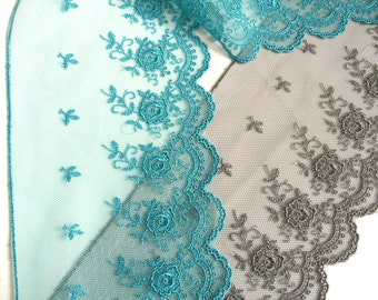 "1 m embroidered lace ""Paris"" L 10 cm"