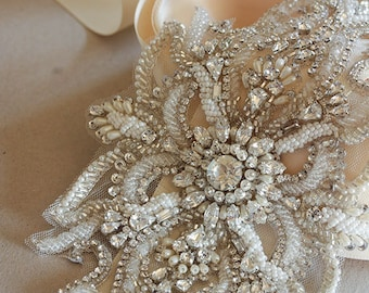 Bridal sash - Unai 11 inches ( Made to Order)