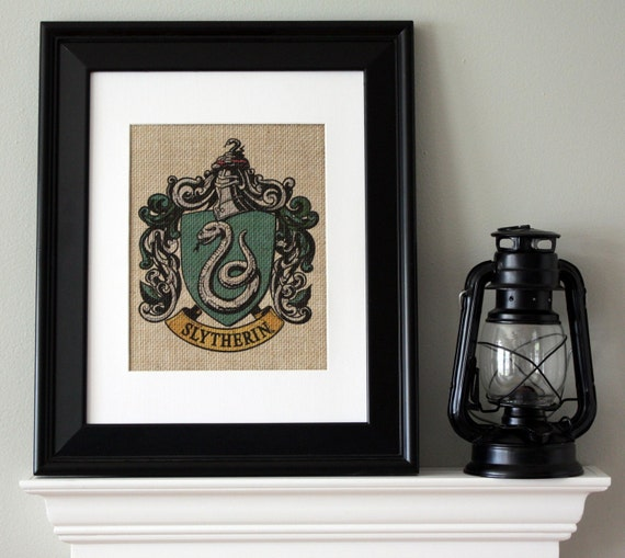 Slytherin Crest Harry Potter Wall Art Burlap Wall Art