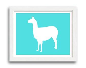 Llama Print - Llama Silhouette
