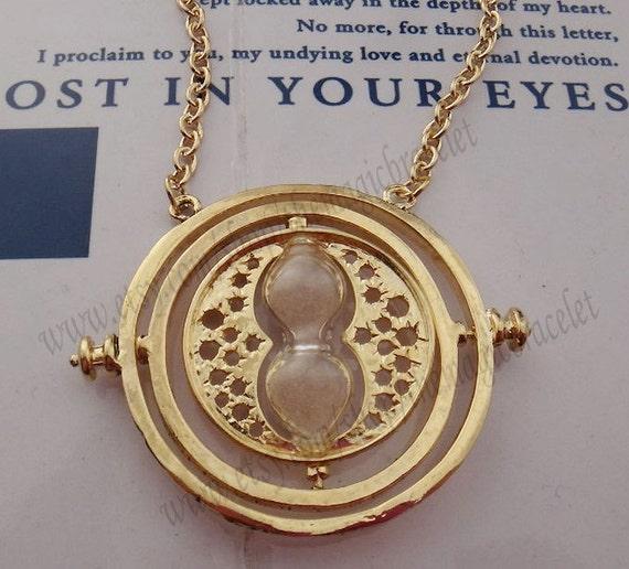 Bib necklace 18K Harry Potter Jewelry Hermione Granger Time Turner Necklace