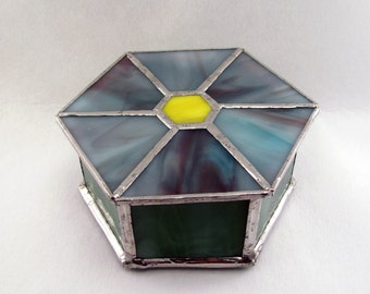Stained glass flower box
