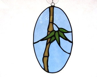 Bamboo stained glass suncatcher