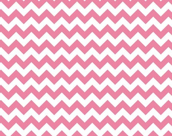 Chevron Fabric Hot Pink Small 1 Yard Riley Blake Chevron Fabric Cotton By The Yard