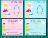 Tooth Fairy Receipt & Tooth Chart. Boys and Girls Tooth Fairy Kit. Lost Tooth Receipt. Kids Tooth Fairy Certificate. Instant Download. DIY