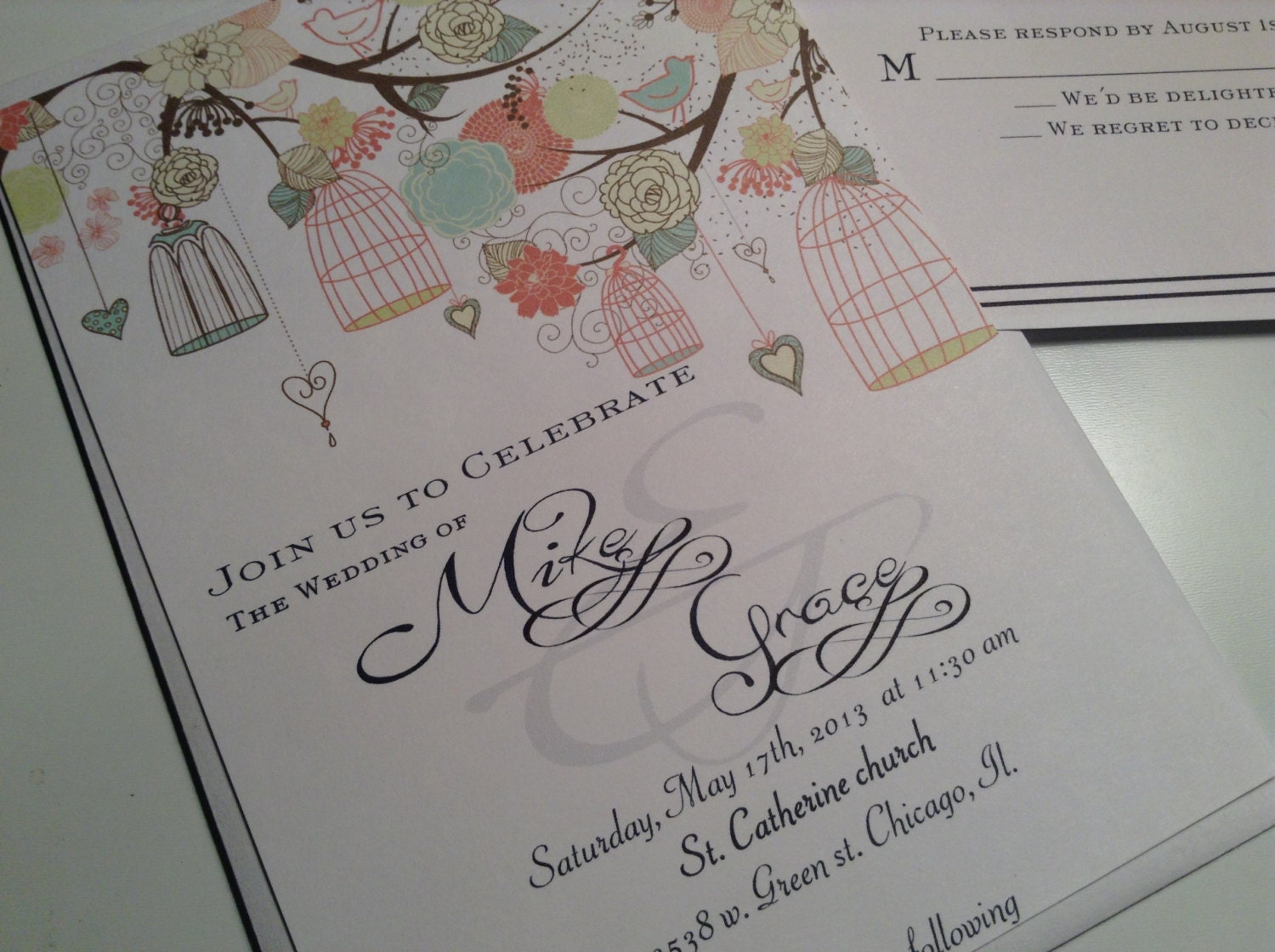 Bird Wedding Invitation: Wedding Invitations Bird Cages Invitations Invites Invite