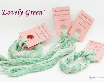 Hand dyed cotton perlé 12 - 'Lovely Green'