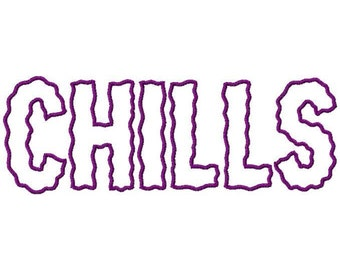 Chills Machine Applique Embroidery Fonts  1629