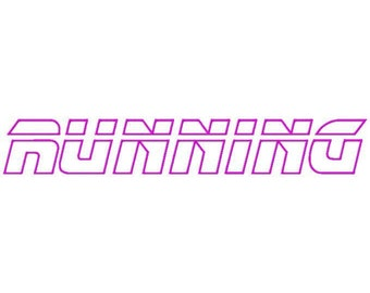 Running Machine Applique Embroidery Fonts  1632
