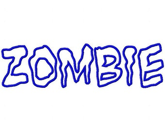 Zombie Machine Applique Embroidery Fonts  1822