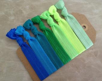 Set of 7 Elastic Hair Ties