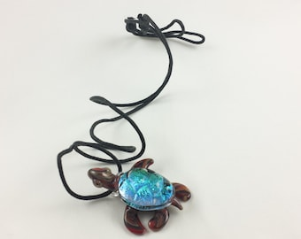 Turtle - Glass Pendant Necklace