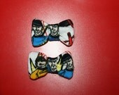 Set of Two Vintage STAR TREK Spock Leonard Nimoy Hair Bows