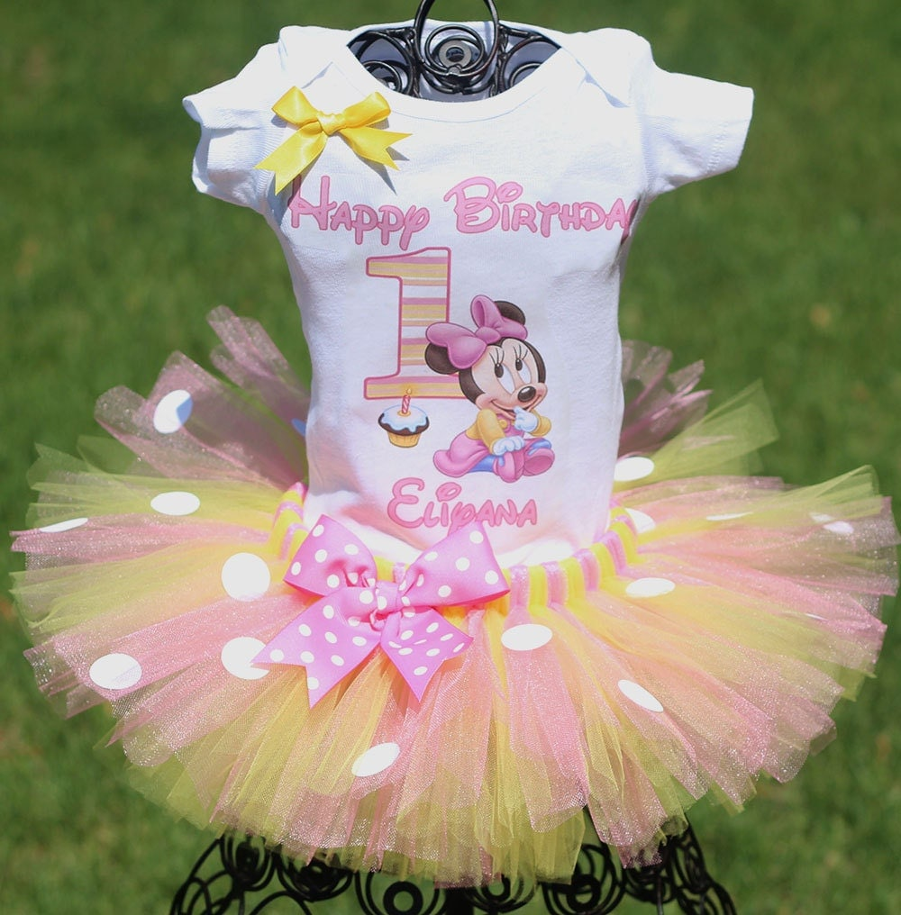 Minnie Mouse First Birthday Outfit FAST By TwistinTwirlinTutus