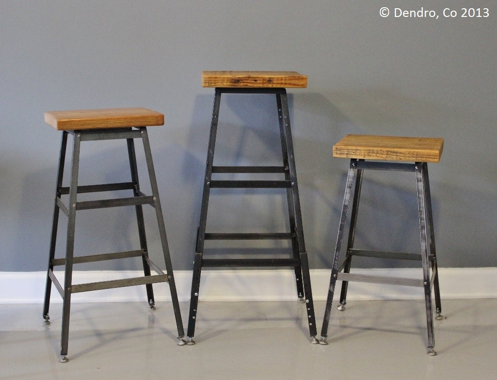 Industrial Chic Bar Stool Reclaimed Urban Wood by DendroCo  : ilfullxfull484241569g2mh from www.etsy.com size 1024 x 784 jpeg 155kB