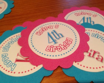 24 Personalized Kids Birthday Favor Tag