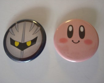 "Kirby / Meta Knight  (1.25"" Buttons)"