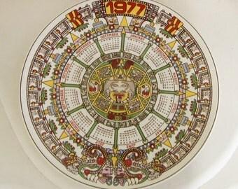 Wedgewood 1977 Calendar plate - Aztec Design
