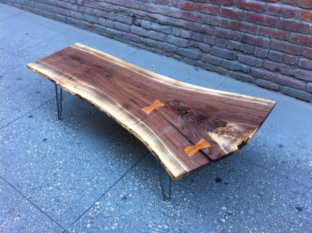 Sold Black Walnut Live Edge Coffee Table With Amazing