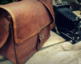 Leather Photography Bag / Women Handbag / Messenger Bag / Cross Body Bag / Satchel / iPad / Hip Bag / Shoulder Bag / Vintage Leather Bag