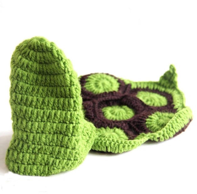 Crochet baby Turtle outfit photo prop. baby by ...