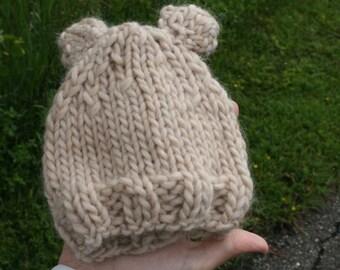Baby Bear Hat - Preemie/Newborn - READY TO SHIP