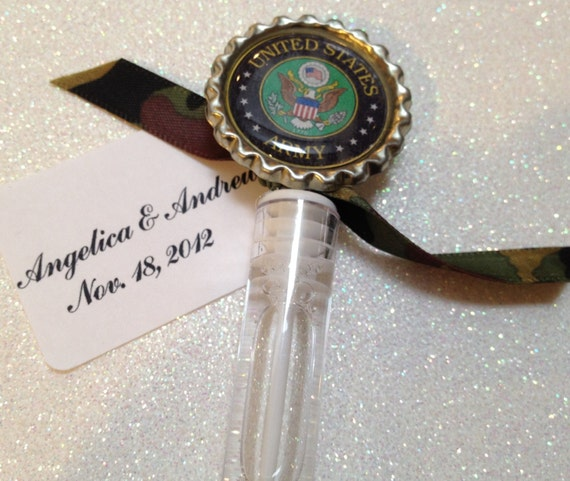 10 US Army Bubble Favors Army Wedding By TotalBlissBoutique