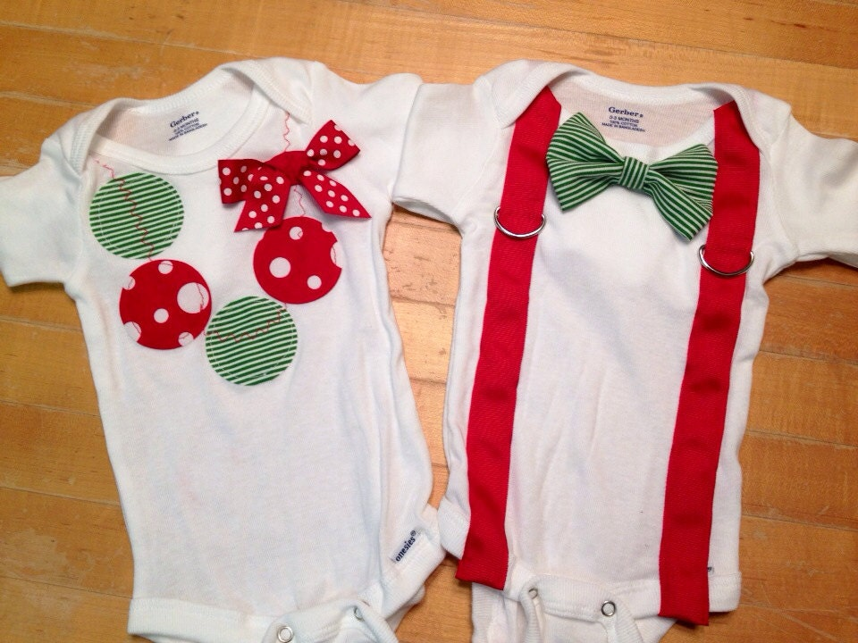 Twin Christmas onesies twin shirts boy girl twin onesies
