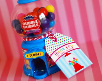 Bubble Gum Gumball Girl Birthday - Printable Customized Package