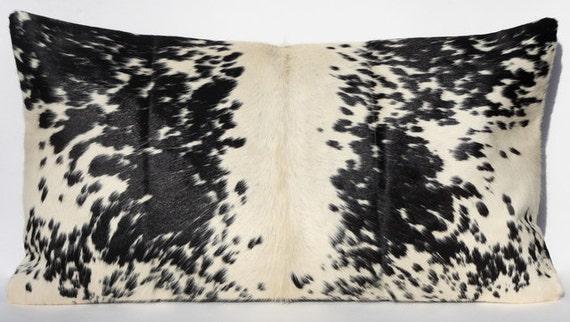 Handmade Cowhide Pillow Decorative Throw Lumbar Pillow