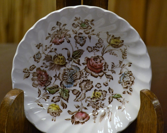 Vintage Johnson Bros Staffordshire Bouquet Berry Bowls Set of 4 England Replacement PanchosPorch