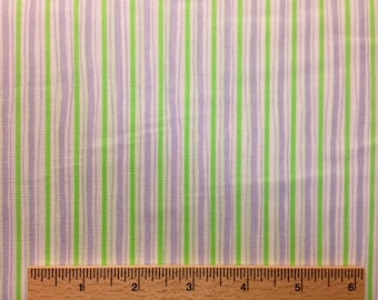 Dena Designs fabric Pastel Narrow Stripe DF02 Lavender green sewing/quilting 100% cotton fabric free spirit by the yard