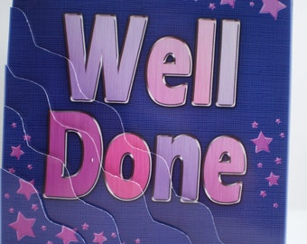 Handmade Well Done Card