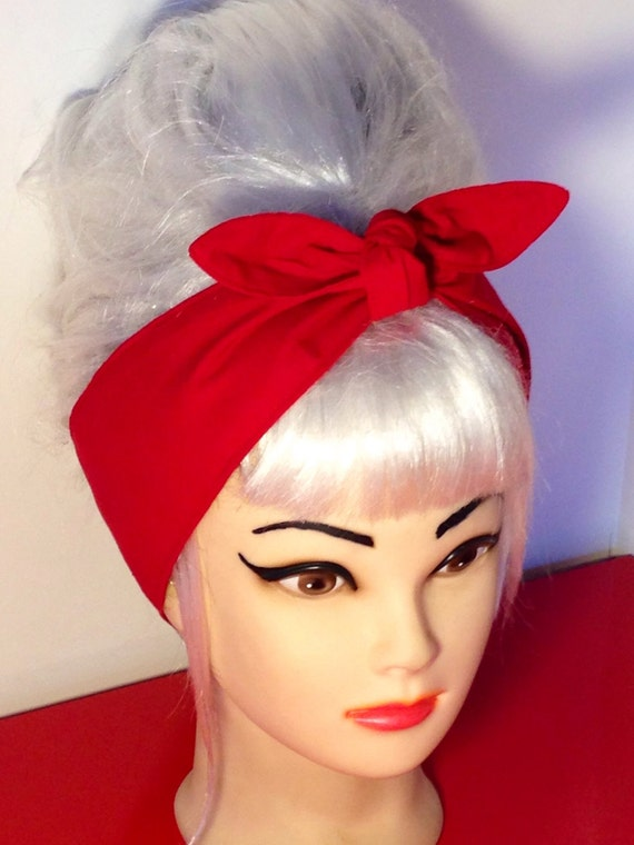 Red headband pinup vintage retro style 50s rockabilly - Vintage style images ...