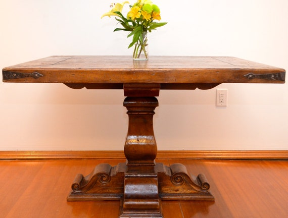 antique solid wood hand carved dining table