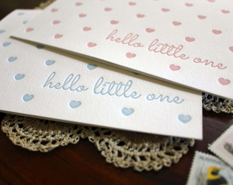 Letterpress Baby Boy or Baby Girl Card