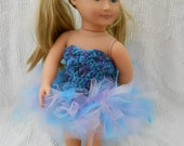 American Girl 18 inch Doll Tutu Clothing Crochet Peacock 50% of Proceeds to Iowa Sids Foundation