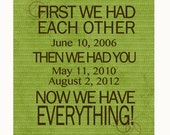 First We Had Each Other, Canvas Design