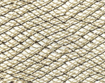 One Yard Fish Net in Cream - Maine Attraction Cotton Quilt Fabric - by Kanvas - Benartex (NOT ACTUAL Fish Net) (W435)