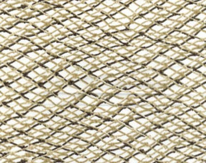 One Yard Fish Net in Cream - Maine Attraction Cotton Quilt Fabric - by Kanvas - Benartex (NOT ACTUAL Fish Net) (W435)