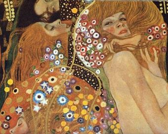 Fabric Panels; Gustav Klimt, Symbolist Art. Craft/ Quilting/ 100% Cotton/ Applique