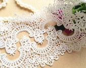 Gorgeous White Venice Lace Trim Beautiful Lace 1.96 Inches Wide 2 yards